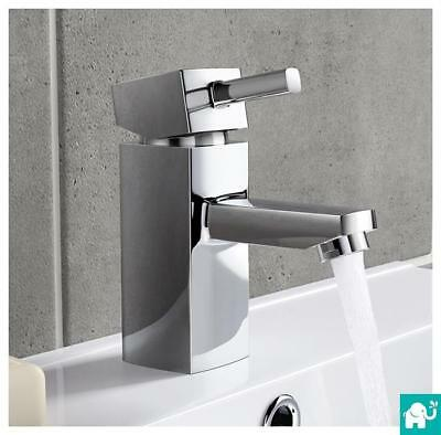 Modern Square Chrome Bathroom Bath Tap Sink Basin & Handheld Shower