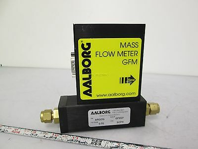 Aalborg GFM37 Mass Flow Meter for Argon Gas 0-70SCFH 24VDC 0-5V/4-20mA