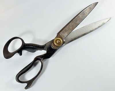 HUGE Vintage/Antique COMPTON U-SET SCISSORS Tailor Sailmaker Factory Shears