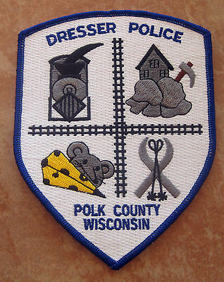 DRESSER WISCONSIN POLICE PATCH UNUSED