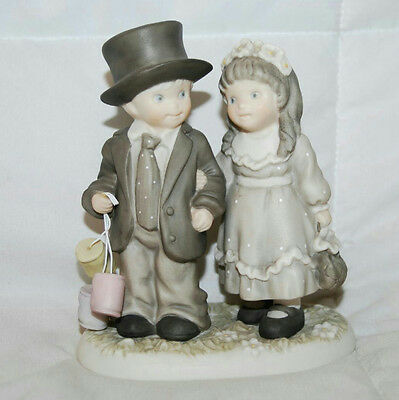 "5"" Always & Forever Figurine 1996 Pretty As A Picture Boy & Girl #245755"