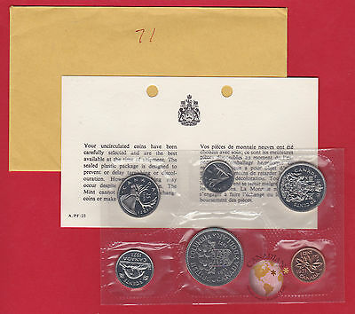 1971 - - Pl Set -  - Canada Rcm Proof Like Mint - With Coa And Envelope