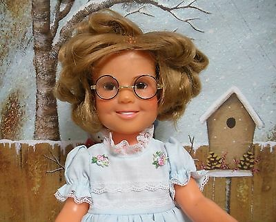"""Fits 16"""" Shirley Temple Ideal  Doll -  Black & Gold Doll Eye Glasses-D425"""
