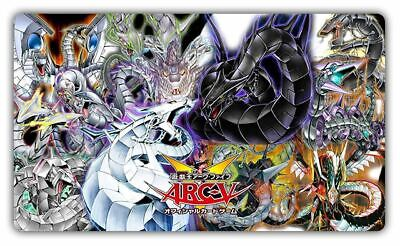 D354 Free Mat Bag Custom YUGIOH Playmat Cyber Dragon Proto,Twin,End,Barrier