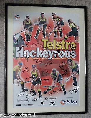 #Aa.  Framed & Signed Australian Women's Hockey Print