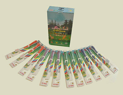 BULK LOT 120xCORONA ZOO KIDS TOOTHBRUSHES 14CM LONG, 4 COLORS TRAVEL HOME GUEST