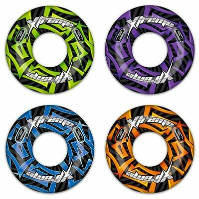 """Large 47"""" Inflatable Turbo Extreme Swim Ring Rubber Tube Beach Lilo Pool Float"""