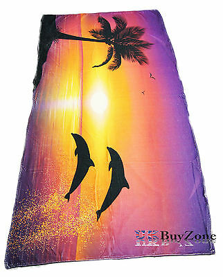 Large Lightweight Microfibre Beach Bath Towel Sports Camping Gym Travel