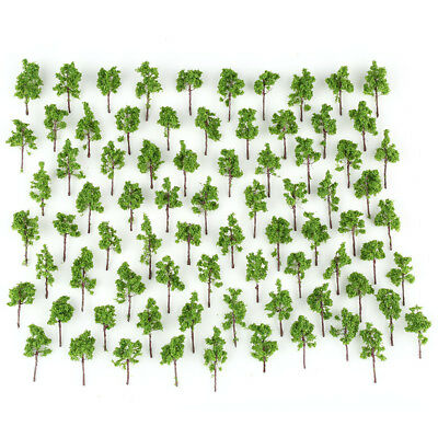 100pcs Model Wired Trees Green for N Z scale Garden Pack Street Layout 38mm