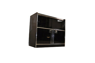 Small Art Deco Sideboard with Sliding glass doors