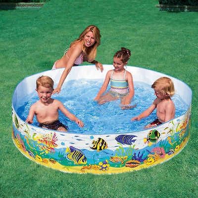 Childrens Kids Toddler Snapset Rigid Swimming Paddling Garden Play Pool Intex