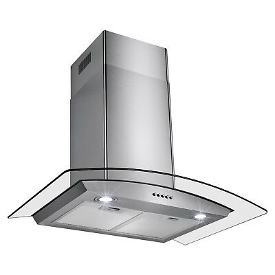 """30"""" New Europe Exhaust Stainless Steel Glass Wall Mount Kitchen Vent Range Hood"""