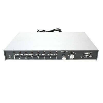 Crest Audio Ts-08-8Bl 8 Channel Bridging & Looping Video Switcher