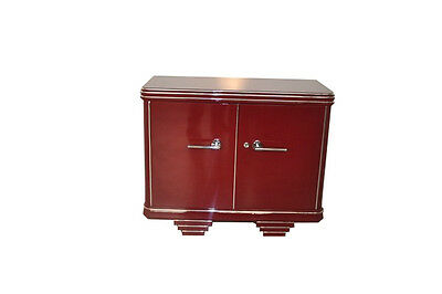 Chest of drawers Art Deco in wine red