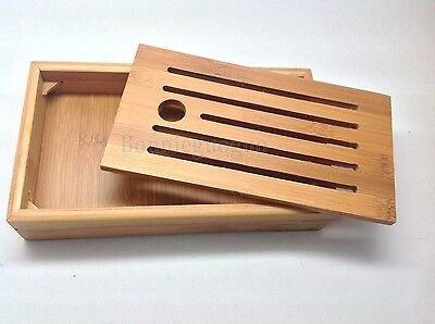 Chinese Bamboo Gongfu Tea Table Serving Tray  Bamboo Tea Tray 21.5*12.5*3.8cm