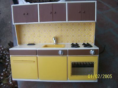 Vintage Illco Battery Operated Toy Kitchen