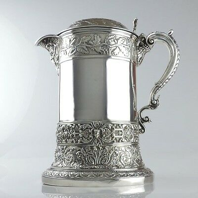 Hunt & Roskell late Storr & Mortimer Sterling Silver Flagon London England 1891