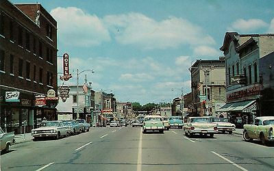 View on Main Street in Fort Atkinson WI Postcard