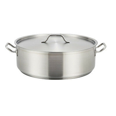 Winco SSLB-15, 15-Quart 5.5-Inch High 14.2–Inch Diameter Stainless Steel Brazier