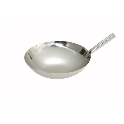 Winco WOK-16N, 16-Inch Stainless Steel Work Nailed Joint