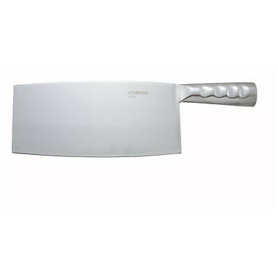Winco KC-401, 8.25x3.93-Inch Chinese Cleaver with Stainless Steel Handle