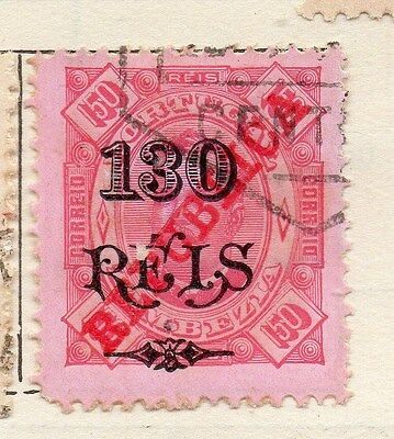 Zambezia 1914 Early Issue Fine Used Optd Republica 130r. Surcharged 143084