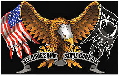 """Small Biker Flag  All Gave Some,some Gave All  Motorcycle Flag Biker 6"""" X 9"""" New"""