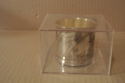 Oneida Silverplate Baby Cup Engraved with Infant Faces and Alphabet - Preowned