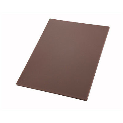 Winco CBBN-1520, 15x20x0.5-Inch Brown Cutting Board for Cooked Meats