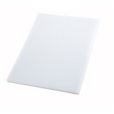 Winco CBWT-1824, 18x24x0.5-Inch White Cutting Board, NSF