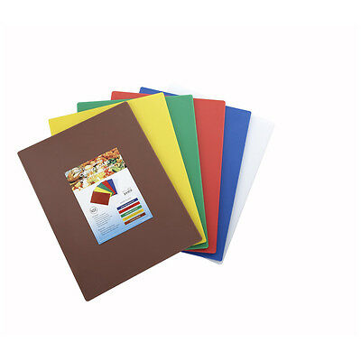 Winco CBST-1824, 18x24x0.5-Inch Six-Color Cutting Board Set, NSF