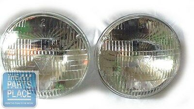 """1967-71 New T-3 / T3 Ribbed 7"""" Headlights / Headlamps - 5014 - Pair"""