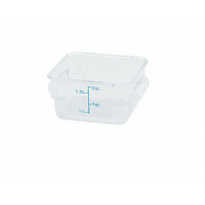 Winco PCSC-2C, 2-Quart Clear Square Polycarbonate Food Storage Container, NSF