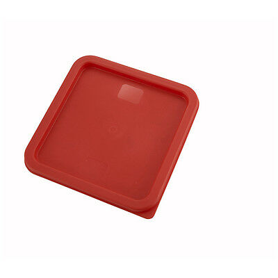 Winco PECC-68, Red Polyethylene Cover For 6- And 8-Quart Square Containers, NSF