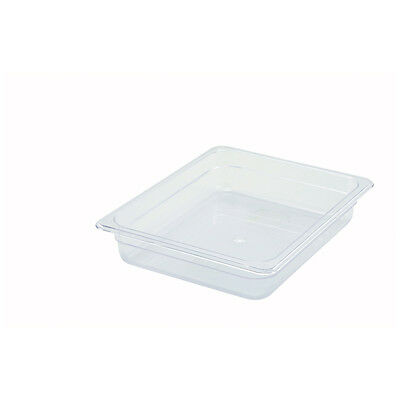 Winco SP7202, 2.5-Inch Deep Half-Size Polycarbonate Food Pan, NSF
