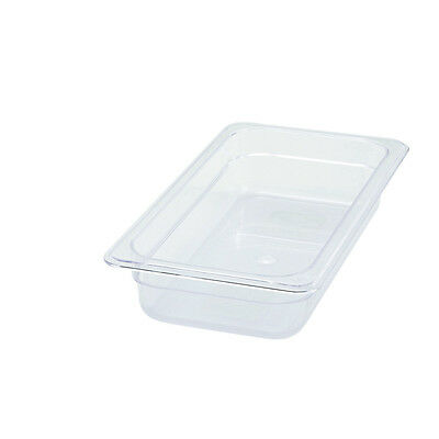 Winco SP7302, 2.5-Inch Deep One-Third Size Polycarbonate Food Pan, NSF
