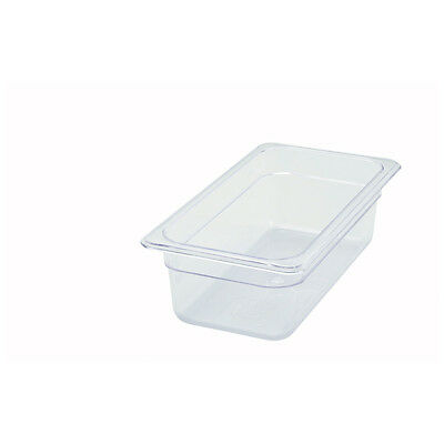 Winco SP7304, 4-Inch Deep One-Third Size Polycarbonate Food Pan, NSF