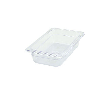 Winco SP7402, 2.5-Inch Deep One-Fourth Size Polycarbonate Food Pan, NSF