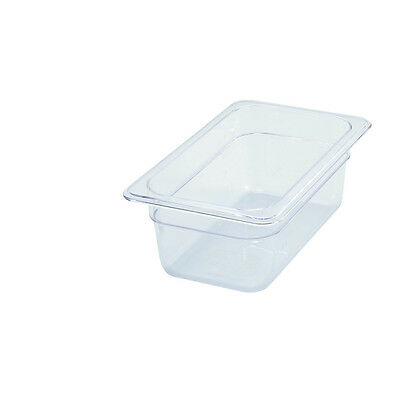 Winco SP7404, 4-Inch Deep One-Fourth Size Polycarbonate Food Pan, NSF