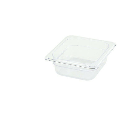 Winco SP7602, 2.5-Inch Deep One-Sixth Size Polycarbonate Food Pan, NSF