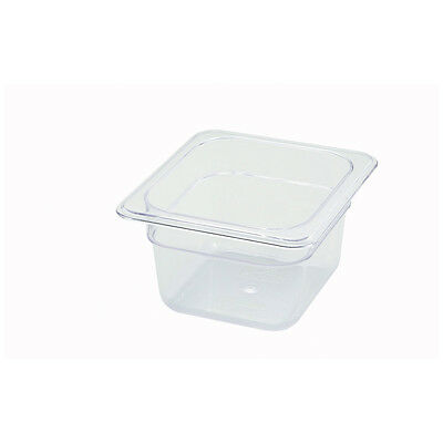 Winco SP7604, 4-Inch Deep One-Sixth Size Polycarbonate Food Pan, NSF