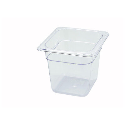 Winco SP7606, 6-Inch Deep One-Sixth Size Polycarbonate Food Pan, NSF