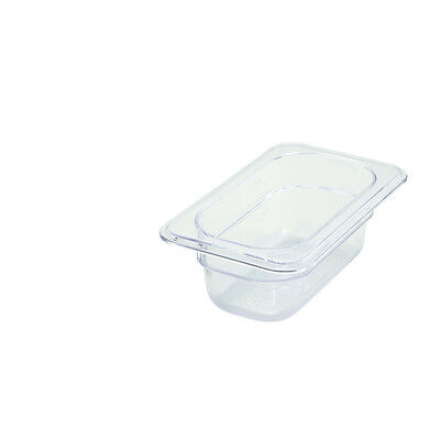 Winco SP7902, 2.5-Inch Deep One-Ninth Size Polycarbonate Food Pan, NSF