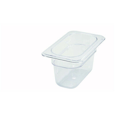 Winco SP7904, 4-Inch Deep One-Ninth Size Polycarbonate Food Pan, NSF
