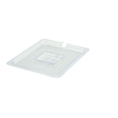Winco SP7200C, Half-Size Polycarbonate Food Pan Slotted Cover, NSF