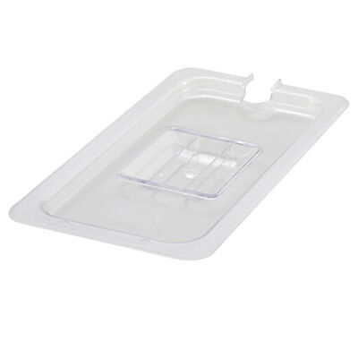 Winco SP7300C, One-Third Size Polycarbonate Food Pan Slotted Cover, NSF