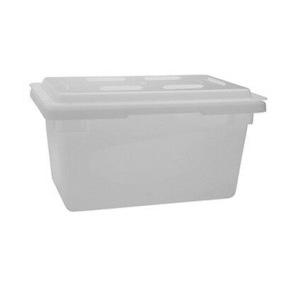 Winco PFFW-6, 18x26x6-Inch Polyethylene Food Storage Box, White