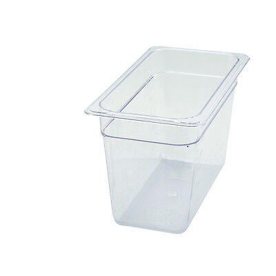 Winco SP7308, 8-Inch Deep Polycarbonate One-Third Size Food Pan, NSF