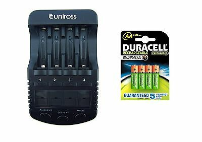 UNiROSS ULTIMATE INTELLIGENT SMART Charger AA AAA+ 4 x AA  DURACELL 2500 mAh
