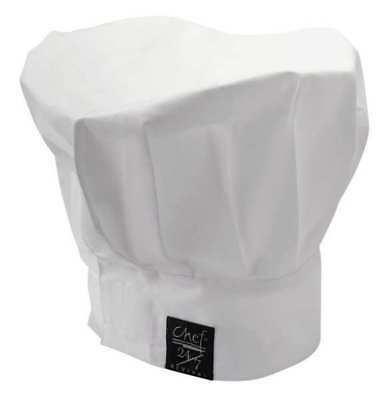 CHEF REVIVAL H400WH Chef Hat, White, 13 Inch Tall
